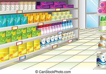 corridoio, supermercato