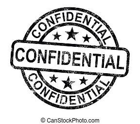 corrispondenza, documenti, confidenziale, francobollo, privato, o, mostra