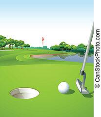 corso, golf verde, pulito