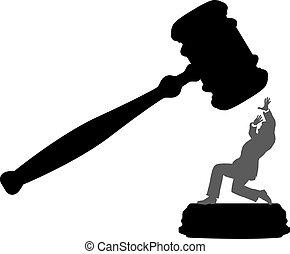 corte, affari, pericolo, persona, ingiustizia, martelletto
