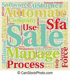 cosa, concetto, automatizzare, processo, testo, vendite, wordcloud, lattina, fondo, lei