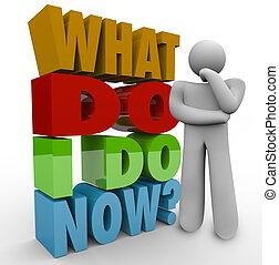 cosa, pensare, domanda, persona, pensatore, ora