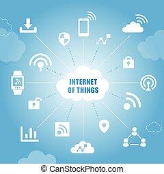 cose, concetto, internet