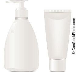 cosmetica, contenitori, gel, sapone
