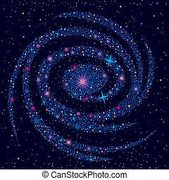 cosmico, fondo, galassia