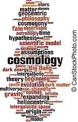 cosmologia, nuvola, parola
