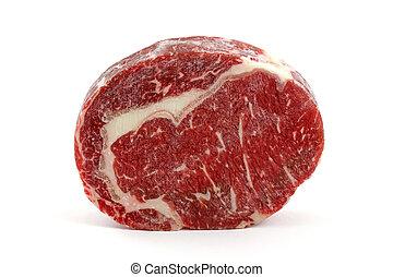 costola, fetta carne, occhio