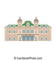 costruzione, appartamento, monte, carlo., città, architecture., viaggiare, monaco, vacanza, paese, european., casino., grande, punto di riferimento, mondo, icona, sightseeing