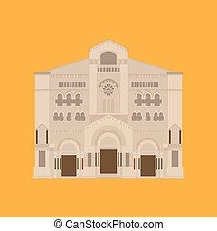 costruzione, appartamento, monte, carlo., icona, città, architecture., viaggiare, vacanza, paese, european., santo, monaco, punto di riferimento, mondo, cathedrale., nicholas, sightseeing