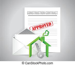 costruzione, approvato, contratto
