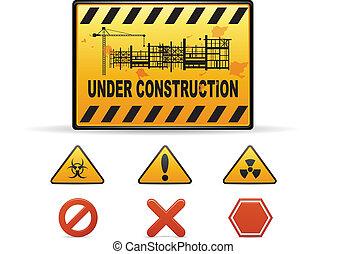 costruzione, avvertimento