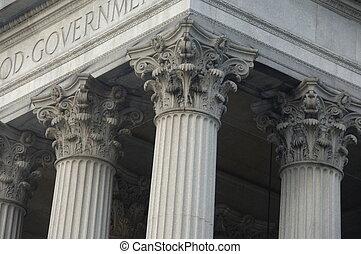 costruzione, colonne corinzie, governo