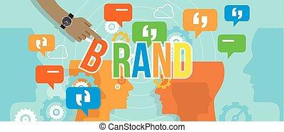costruzione, concetto, affari, marcare caldo, marca, corporativo, ditta