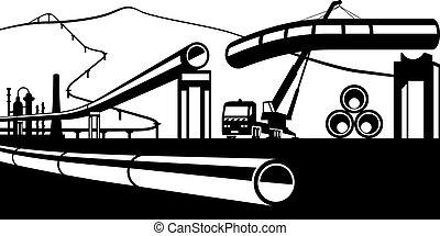 costruzione, conduttura, industriale