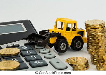 costruzione, contabilità, industria, costo