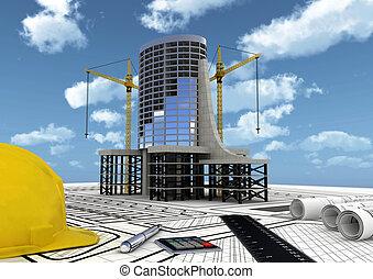 costruzione, costruzione commerciale