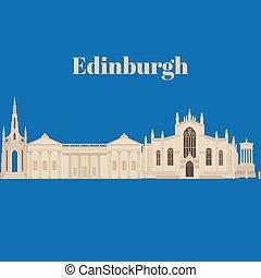 costruzione, edinburgh, britain., unito, appartamento, scozia, landmark., dugald, stewart, grande, st, giles, kingdom., scott, architettura, monumento, cattedrale, walter, sightseeing