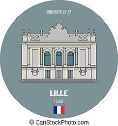 costruzione, lille, opera, francia