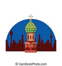 costruzione, russia, cremlino