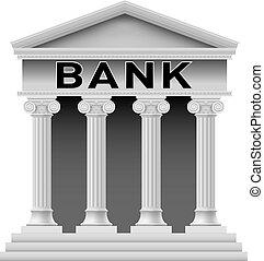 costruzione, simbolo, banca