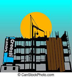 costruzione, simbolo, vettore