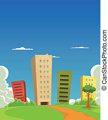 costruzione, uffici, appartamenti