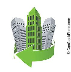 costruzione, verde