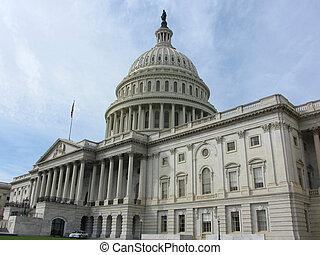 costruzione, washington dc, capitol stati uniti