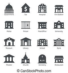 costruzioni governo, icone