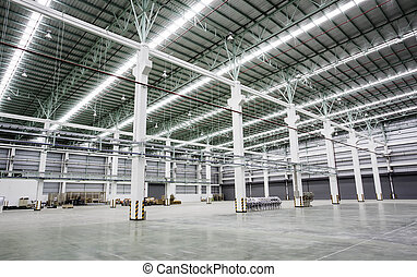 costruzioni, interno, fabbrica