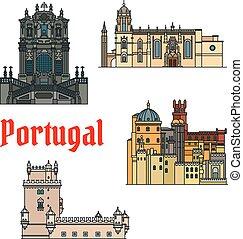 costruzioni, sightseeings, storico, portogallo