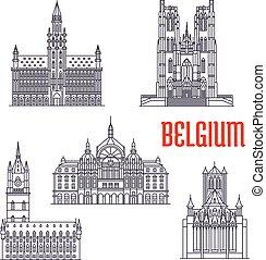 costruzioni storiche, belgio, architettura