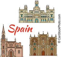 costruzioni, storico, architettura, spagna