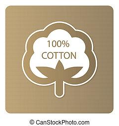 cotone, etichetta