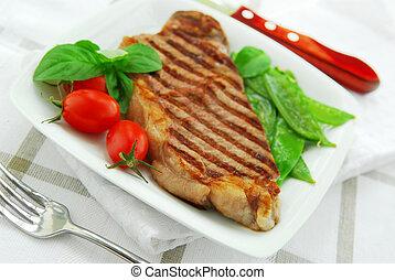 cotto ferri, bistecca