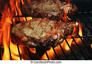 cotto ferri, bistecche