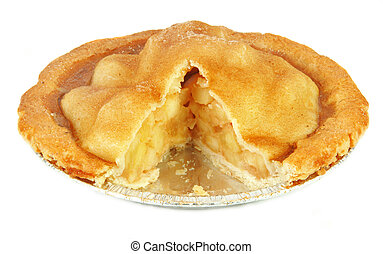 cotto, mela, frescamente, torta