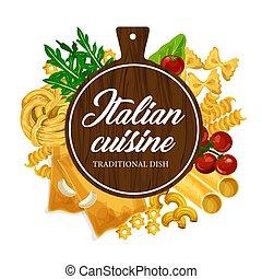 cottura, casalingo, cucina, italiano, pasta