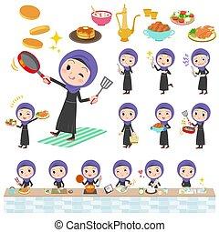 cottura, donne, arabo