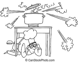 cottura, esplosione