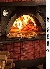 cottura, pizza