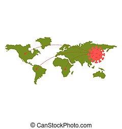 covid19, mappa, particelle, terra