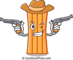 cowboy, aria, carattere, cartone animato, materasso