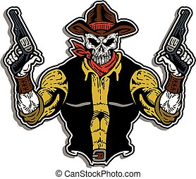 cowboy, cranio, faccia