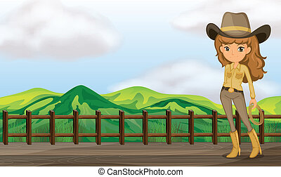 cowgirl, ponte