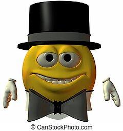 cravatta, smiley-hat