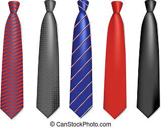 cravatte, collo, collection.