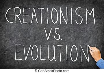 creationism, evoluzione, vs.
