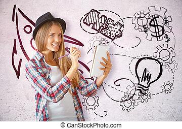 creatività, concetto, educazione