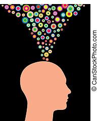 creativo, uomo, pensieri